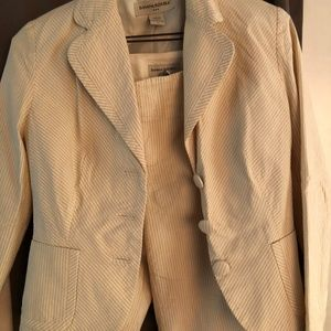 Seersucker suit Banana Republic tan/cream 2